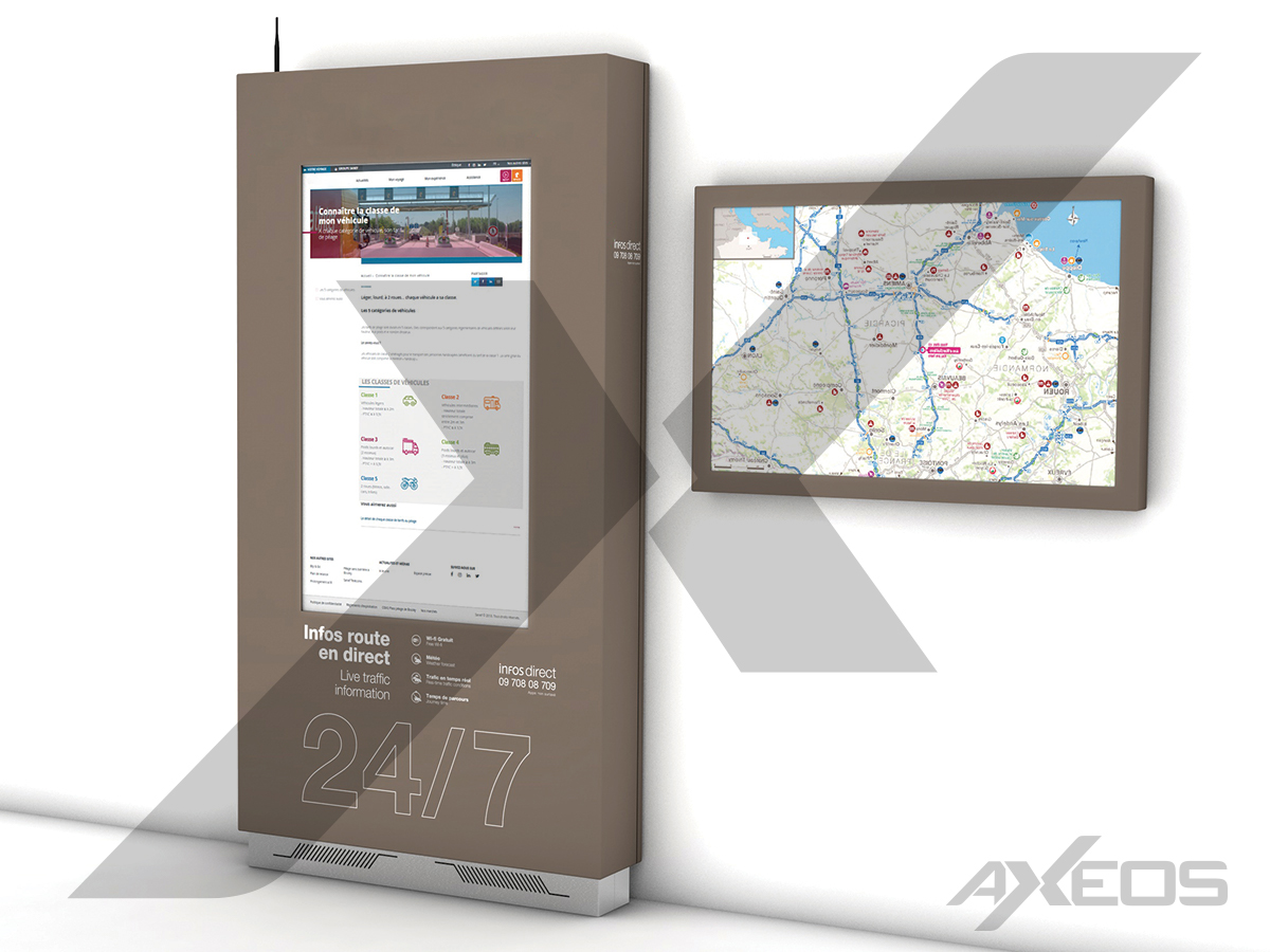 19.1.Wall touch screen kiosk and Indoor enclosure - AXEOS