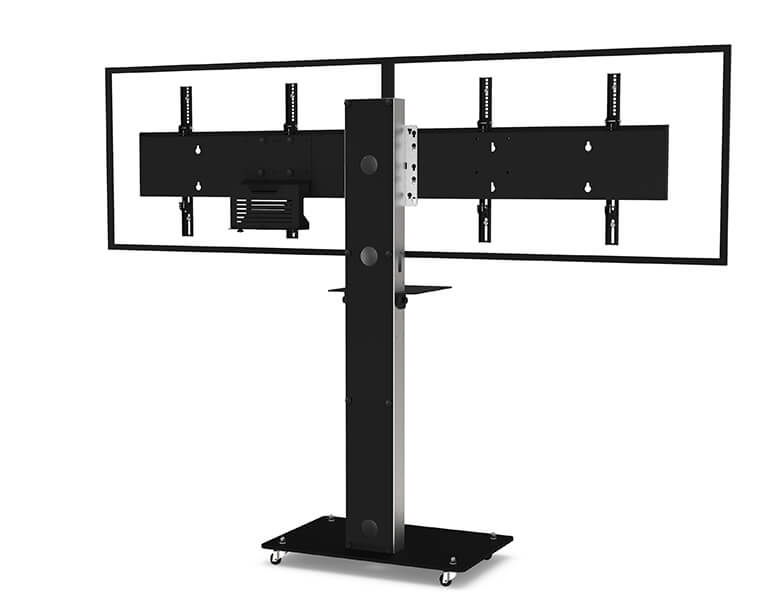 Boxer Dual Screen Videoconferencing - Rear View - AXEOS