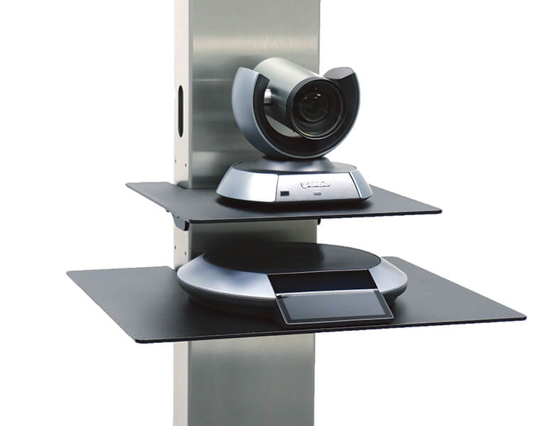 Camera shelf and large shelf - VC stand - LifeSize 10X and Phone HD - AXEOS