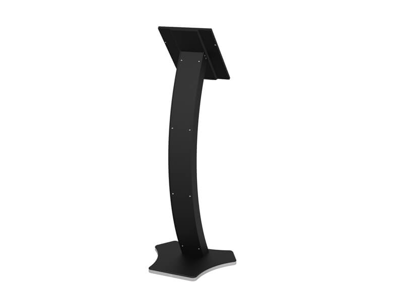 EXIA - iPad display kiosk - Black finish - AXEOS