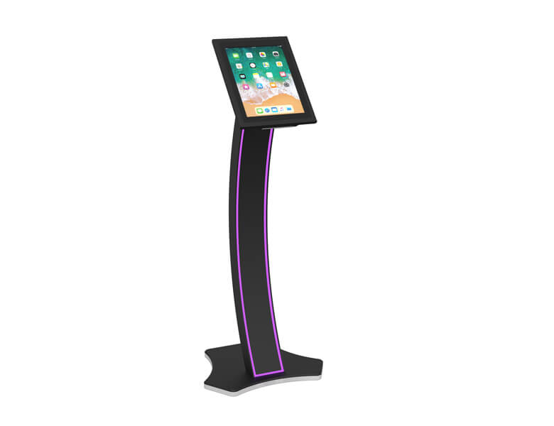 EXIA - tablet display kiosk - Black finish - AXEOS