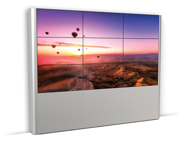 Hinged video wall - LED video wall - AXEOS_