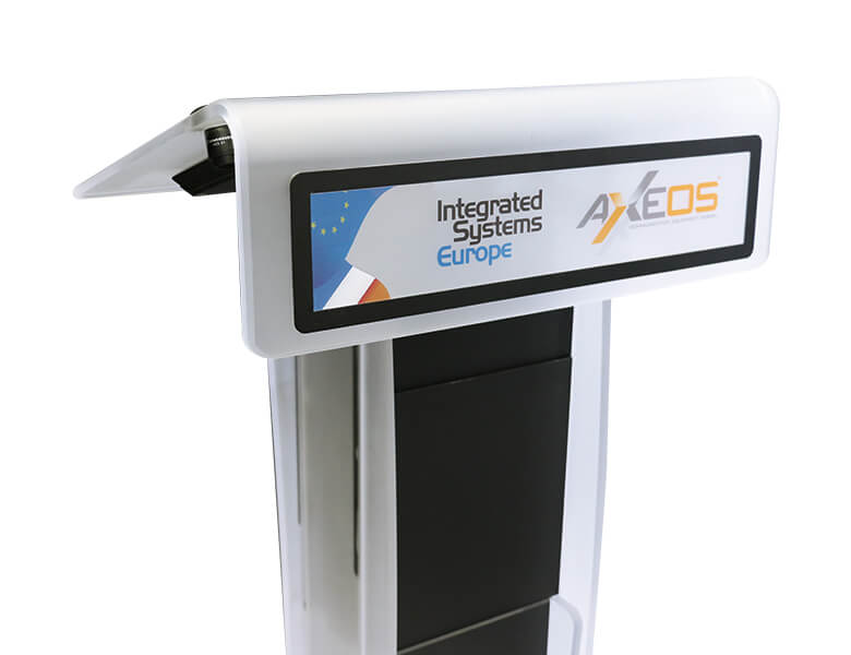 Neonyx Lectern - Customisable and magnetic plate for logo - AXEOS