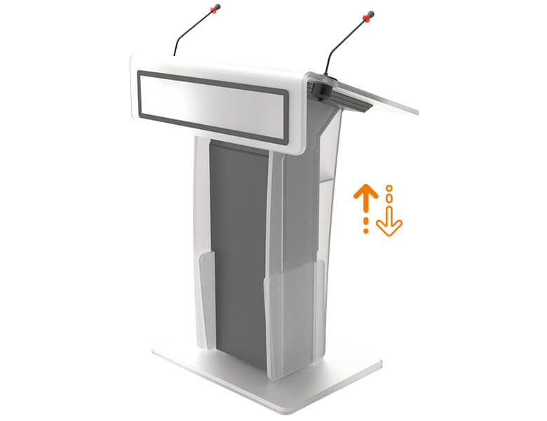 Neonyx Touch Lift - Lectern for Conference meeting - AXEOS
