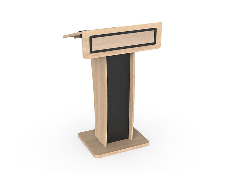 Neonyx Wood Lectern for Conference meeting - AXEOS