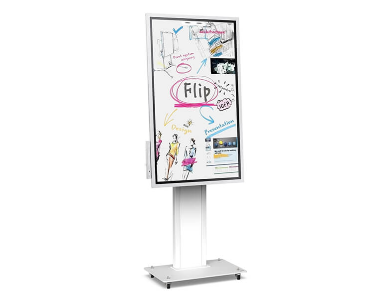 Obox - diplay stand for interactive whiteboard - White finish - AXEOS