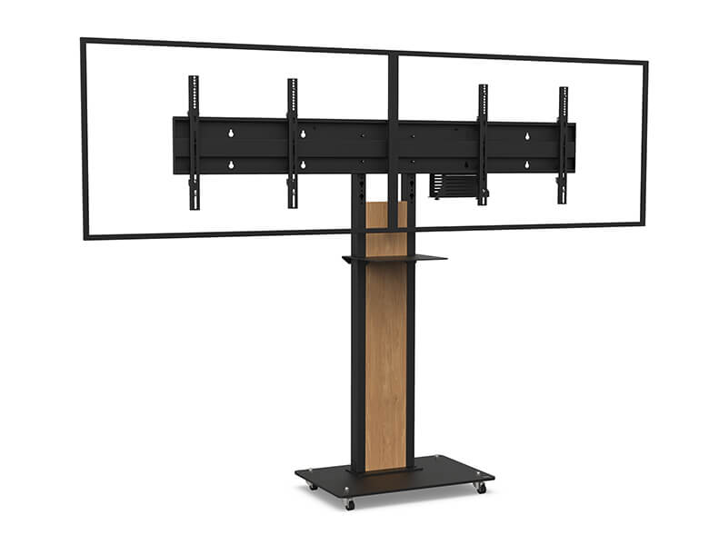 Obox Dual Screen Videoconferencing - VC stand - AXEOS