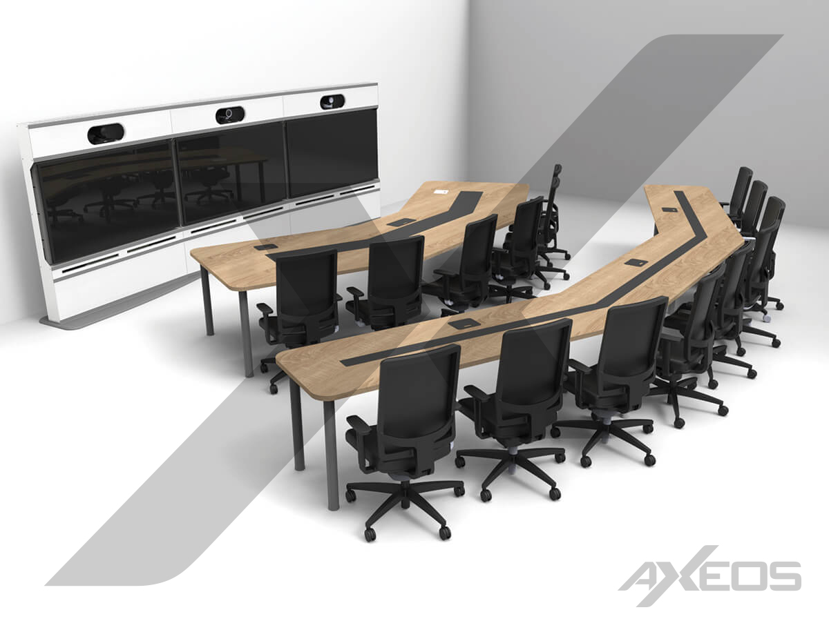 Telepresence table 6 and 9 people and TP furniture - AXEOS