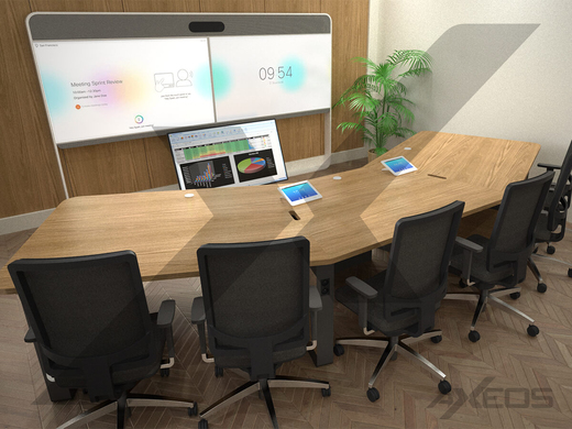 1 Cisco Webex Room 55 Dual and telepresence table - AXEOS