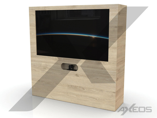 Carpentry furniture with monitor and camera - AXEOS