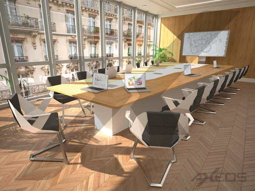 Trapezoidal table - Meeting room - AXEOS