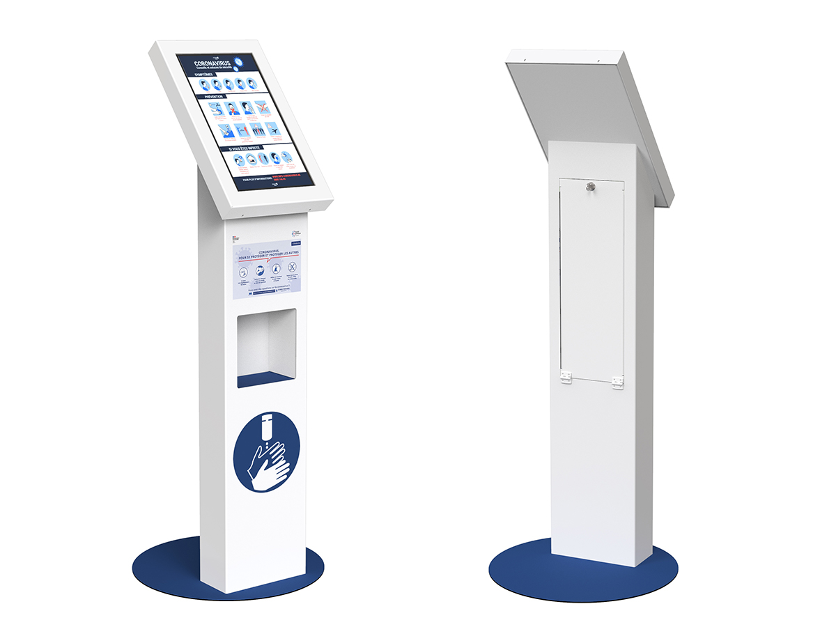 Touch solution with automatic dispenser - AXEOS