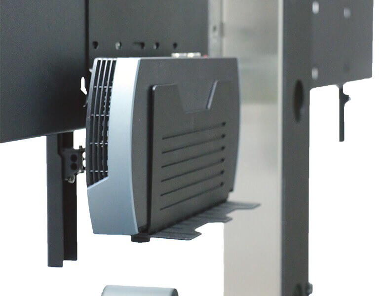 Universal codec holder - Dual Screen Stand - LifeSize ICON 600 - AXEOS